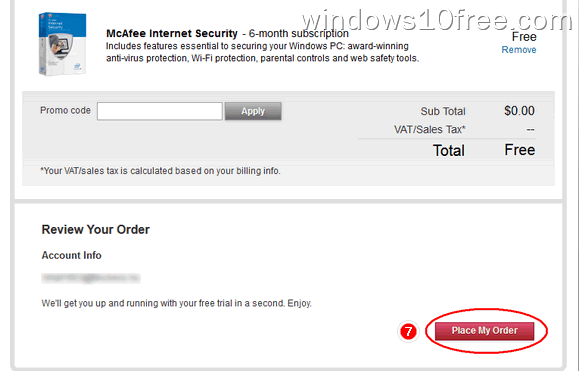 03 McAfee Internet Security 6 Month License Order Confirmation