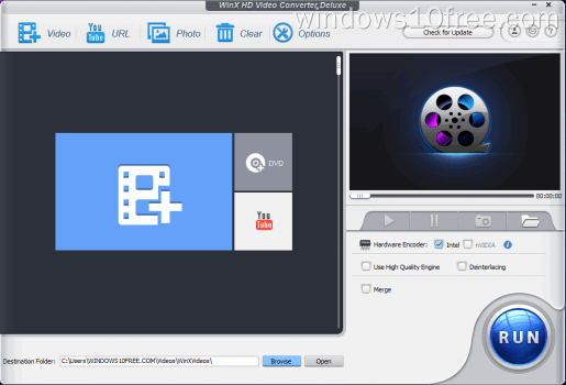 06 WinX HD Video Converter Deluxe Giveaway Main Screen