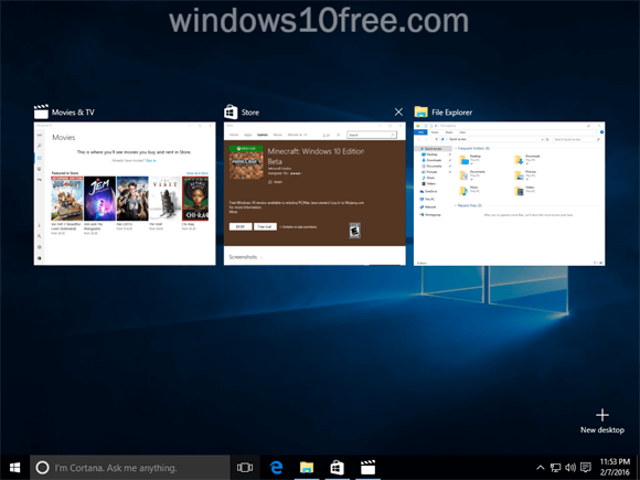 Windows 10 Multi Task