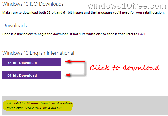 Windows 10 Download ISO Link Download