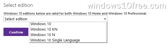 Windows 10 ISO Select Edition