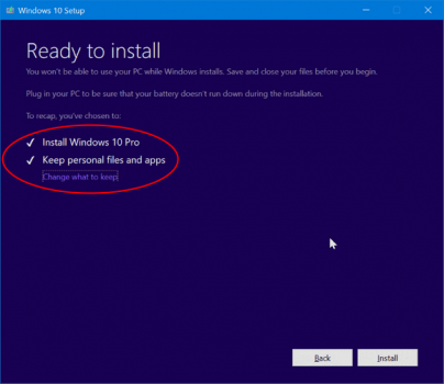 Step 06 Windows 10 Ready To Install