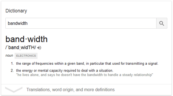 Bandwidth Definition By Dictionary