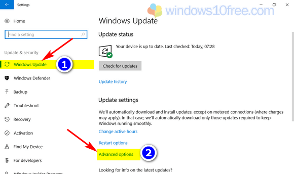 Step 2 Windows 10 Advanced Options