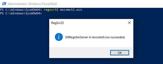 MSCOMCTL.OCX Missing Register File