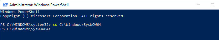 Change PowerShell Directory Path To 64 Bits