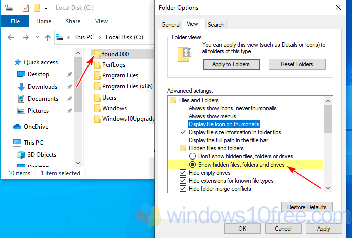 Show Hidden Folders And Files Setting