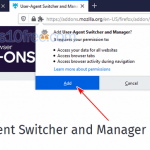 User Agent Switcher Install 04