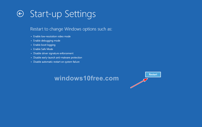 Windows 10 in Safe Mode Settings 06