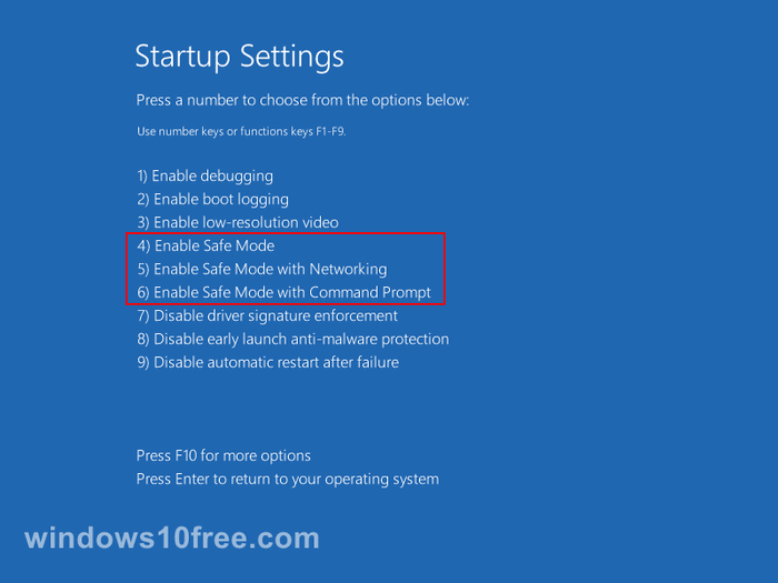 Windows 10 in Safe Mode Settings 06a