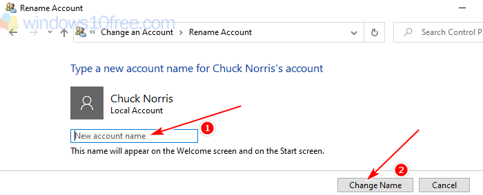 Rename Account, Change Username