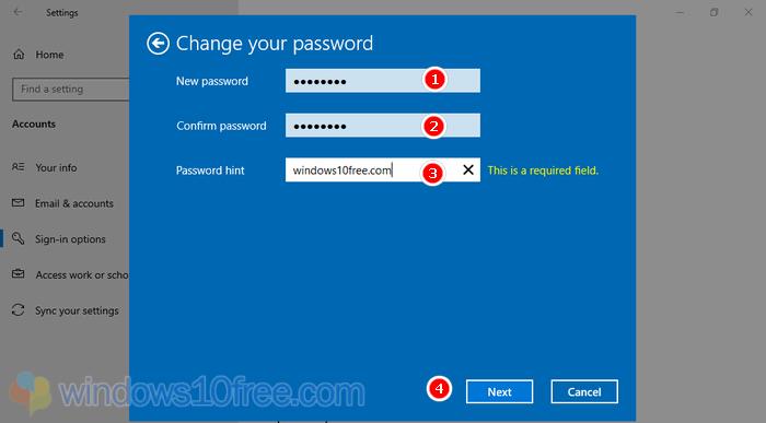 Change Password Enter New Password 05