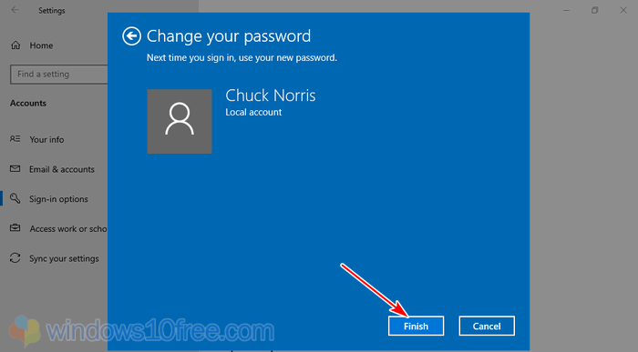 Change Password Finish 06