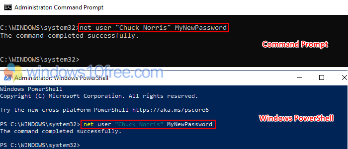 Change Password From Command Prompt 03