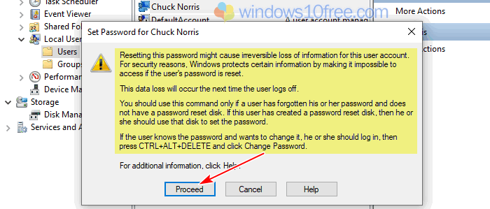 Change Password From Computer Management 03