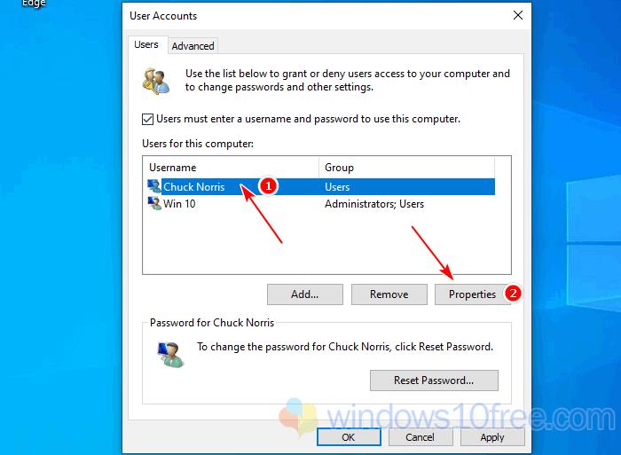 Change Username Windows 10 Advanced Control Panel 02