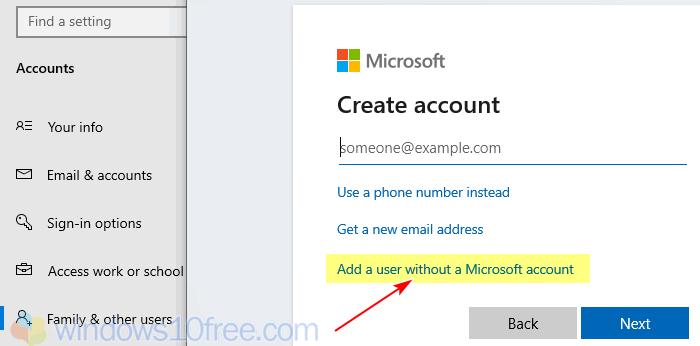 Create New Account Windows 10 04