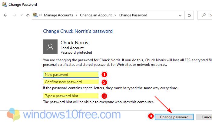 Windows 10 Change Password 04