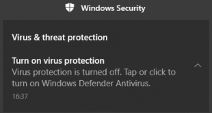 Windows Defender Is Turned Off Featured