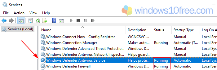Windows Defender Is Turned Off Services Manager